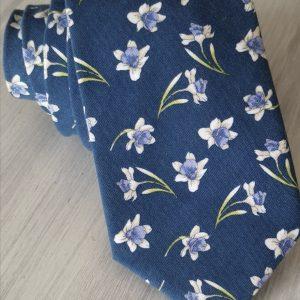 Corbata algodón estampado flores